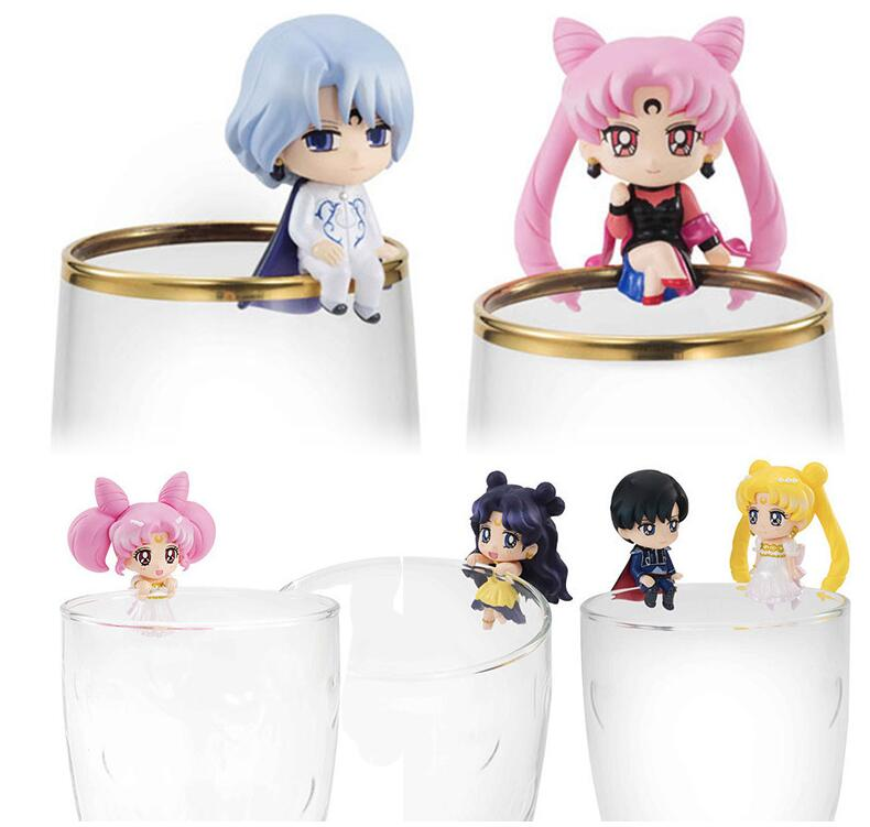 Japan Anime Sailor Moon Tsukino Usagi Stars Quicksand Drinking Cup Double Walls