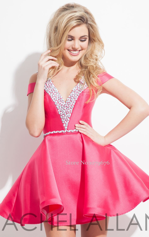 Dulce de moda Hot Pink Vestidos de Fiesta Hombro Backless vestido de ...