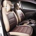 Couro especial tampas de assento do carro Para Ford Focus 2 3 kuga mondeo Fiesta Borda Explorador fiesta fusão acessórios do carro styling
