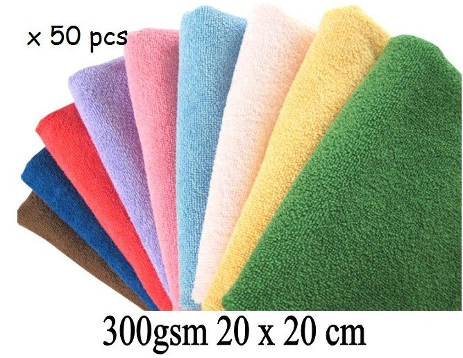 300gsm 20cmx20cm Microfiber Cleaning Cloth Wiping Rags