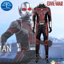 MANLUYUNXIAO Captain America Civil War Superhero Ant-Man Costume Scott Lang Cosplay For Men Full Suit Any Size