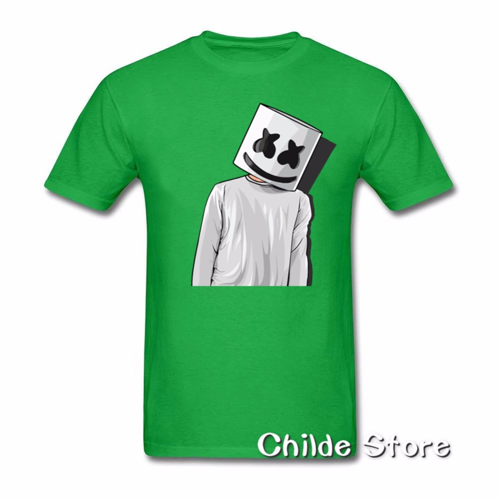 fc2ae594ce 2018 Cheap Price Unique Tee Shirts Marshmello FAN ART mens t shirts Youth  Short T Shirt Crew Neck Hombre Funny Tees-in T-Shirts from Men's Clothing  on ...