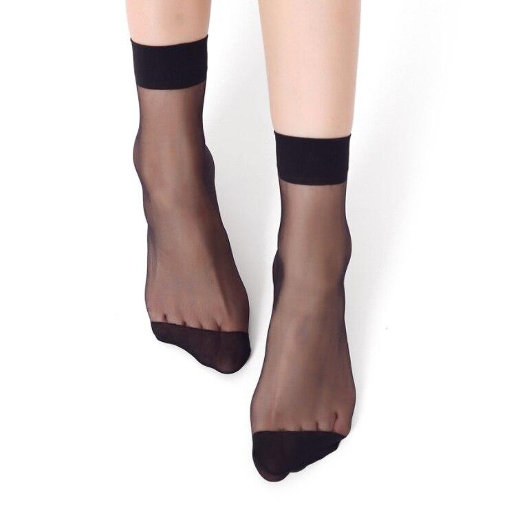 10Pairs Women   Socks   Nylon Elastic Short Ankle Sheer Silk Short   Socks   Summer   socks
