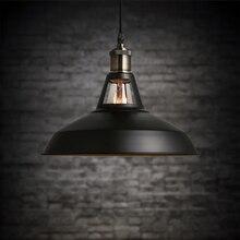 НОВЫЙ 300 мм железа Европейский стиль ретро Промышленного подвесной светильник с E27 LED Эдисон tungstens лампы droplight 110 220 В висит свет