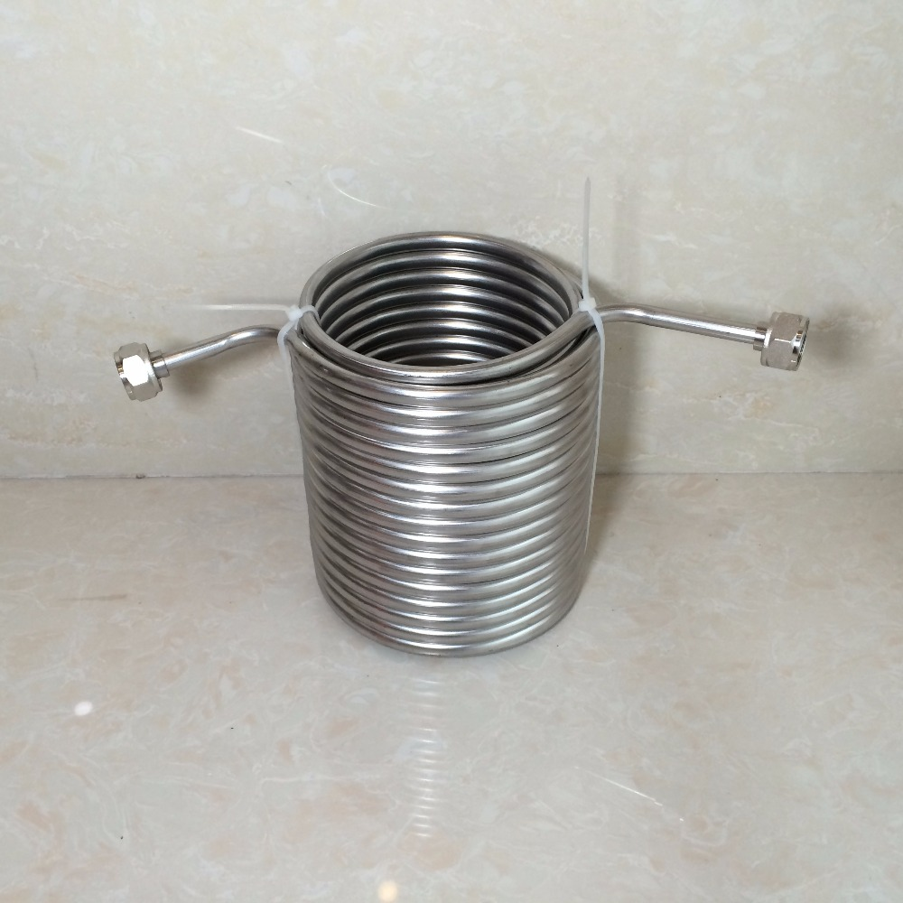 Picnic Brew Beer 15m long double layer Stainless Steel beer cooling coil for your joceky box with 5/8'G connector