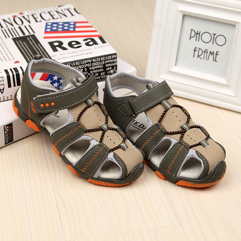 Summer Hollow Anti Slip Beach Boys Sandasl Car Styling Kids Boys Leather Sandals Children Footwear Sapato Menino sandal TX87
