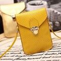Senhora PU Couro Universal Mobile Phone Case Bolsa Capa Bolsa da Menina crossbody bolsa com alças para apple iphone 4 4s 5 6 6 S
