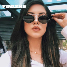 YOOSKE Rimless Sunglasses Women Men Luxury Brand Alloy Frame