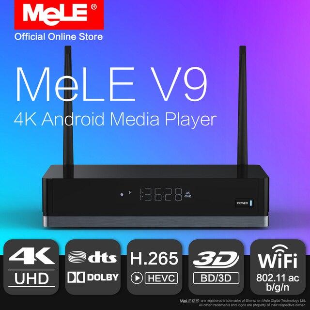 MeLE V9 Android 6.0 Mini PC TV Box HDMI Media Player 4K HDR Realtek RTD1295 2GB 16GB 802.11ac WiFi 1000M Ethernet Dolby DTS Kodi