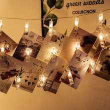 3M 4.5M 6M 7.5M Card Photo Clip Holder LED Christmas String Fairy Garland lights Battery Powered For Wedding Home Decorations string lights new 1 5m 3m 6m fairy garland led ball waterproof for christmas tree wedding home indoor decoration battery powered