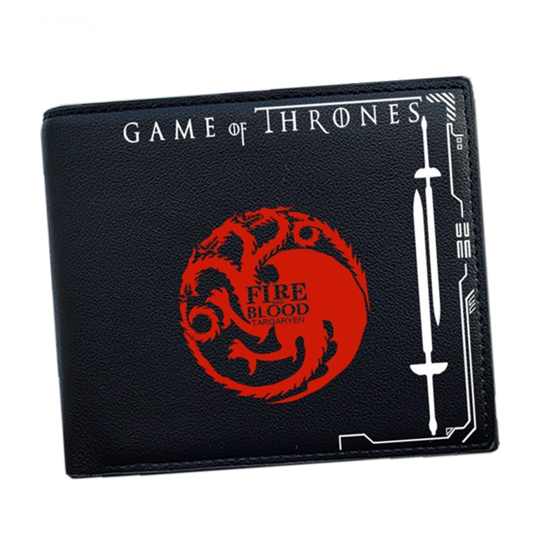 Game of Thrones Wallet 9 House Blood and Fire Winter is Coming Short Wallets With Card Holder Men Purse Wallet Dollar Price full hunter game of thrones pocket watch lion house lannister necklace quartz bronze cool men womens gift