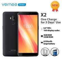 Vernee X2 Smartphone 3GB RAM 32GB ROM Dual SIM Slot 6350mAh 6.0 Inch Face ID 4G LTE Android 9.0 Mobile Phone