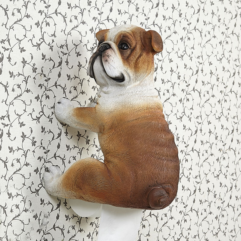 Pug toilet rolls paper holder bulldog toilet tissue paper Creative toilet paper holder