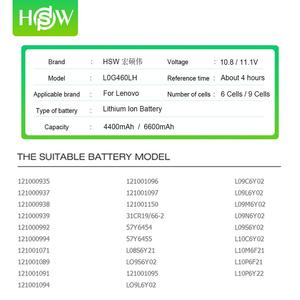 Image 2 - 6600mAh 4400mAh סוללה עבור מחשב נייד Lenovo G560 G570 G470 סוללה G460 G465 G475 G565 G575 G770 Z460 V360A e47G Z370 L10M6F21