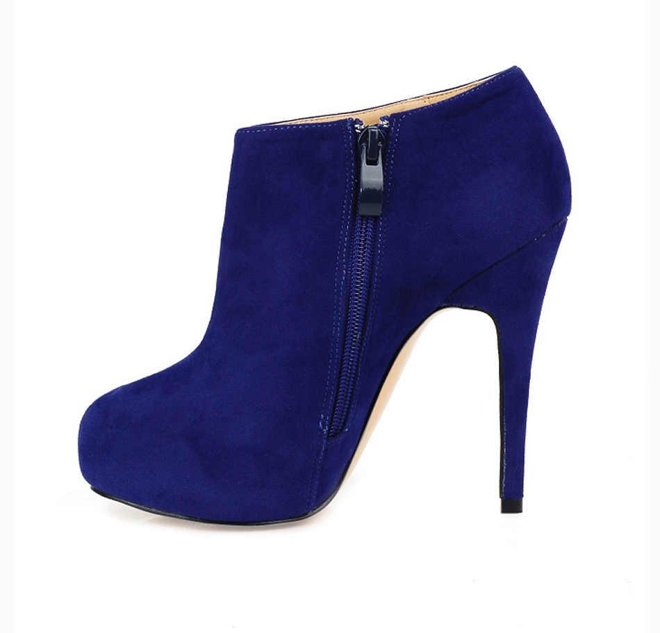 CHMILE CHAU Sexy moda Botas de Tobillo mujeres Stiletto tacón alto Bottes cheville Caviglia Tobillo Botas Mujer Ba-1