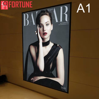 5 Pcs LED Light Box Black And Silver 2 Color Aluminum Frame Poster Advertising Sign Billboard Wall Mounted Picture Light Boxes