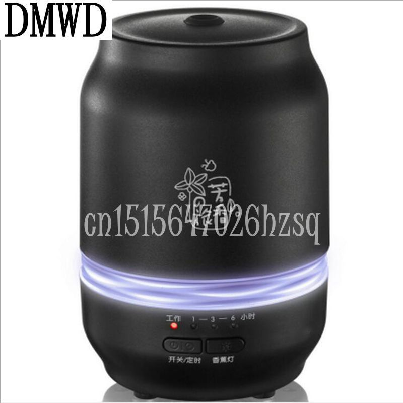 DMWD 11W Household Essential Oil Diffuser 0.2L Aroma 3 Color LED Lights Humidifier Waterless Auto shut-off Mute For bedroom