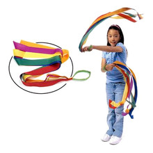 12 PCS Art Gymnastic Dance Ribbon Gym Rhythmic Gymnastics Ballet Streamer Exercises Ribbons Fitness Rainbow Color For Girls A