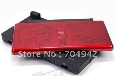 Red picuture Full Shell Housing Case Cover Replacement Set + Hinge Tools for nds lite ndsl Retails / Replacement shell for NDSL