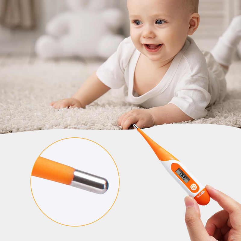 Cofoe elektroniczny termometr cyfrowy miękka głowa pod pachami pomiar temperatury w jamie ustnej LCD urządzenie do pomiaru temperatury dla dzieci dorośli