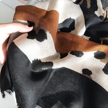2019 Spring Autumn Leopard Striped Tassel Viscose Shawl Scarf Lady Bandana Hijabs and Wraps Foulard Pashminas