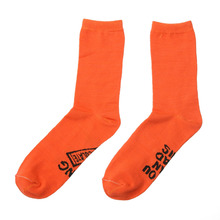 Men Women Custom Orange Socks Comfortable Breathable Warm Cotton Socks Adult Letters Printing Socks
