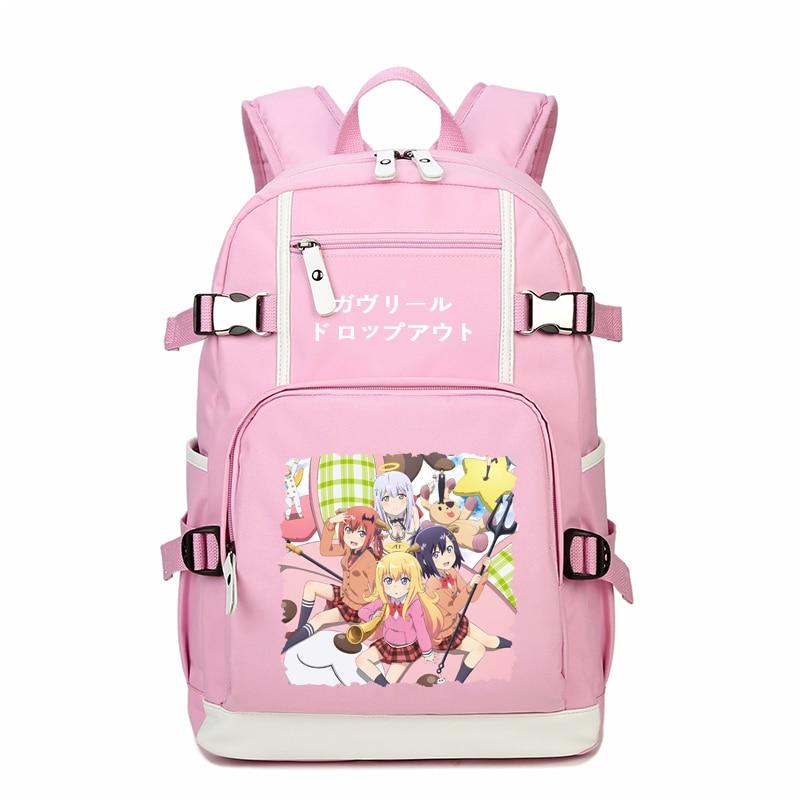Anime Gabriel DropOut Printing Backpack Kawaii Tenma Gabriel White Cosplay Bags Mochila Feminina School Bags for Teenage Girls цена 2017