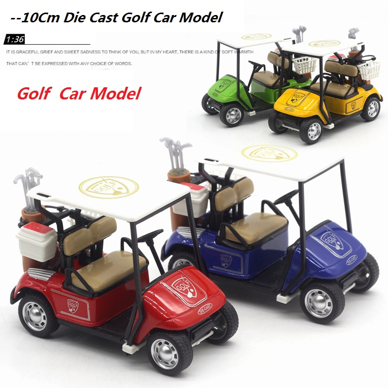 A Small Golf Carts Model Size10Cm Gifts For Kids Or Decoration W/Return Power Metal& Plastic Made