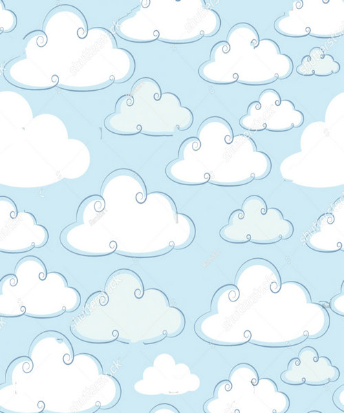 baby cloud blue backdrops polyester or Vinyl cloth High quality Computer print wall photography studio background