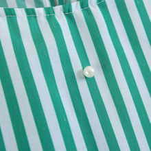 elegant pearls beading O neck blouse