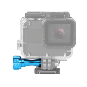 Image 5 - לירות 4Pcs CNC אלומיניום סגסוגת אגודל בורג לgopro Hero 9 8 7 6 5 שחור Sjcam Xiaomi יי 4K H9 פעולה מצלמה ללכת אביזרים פרו