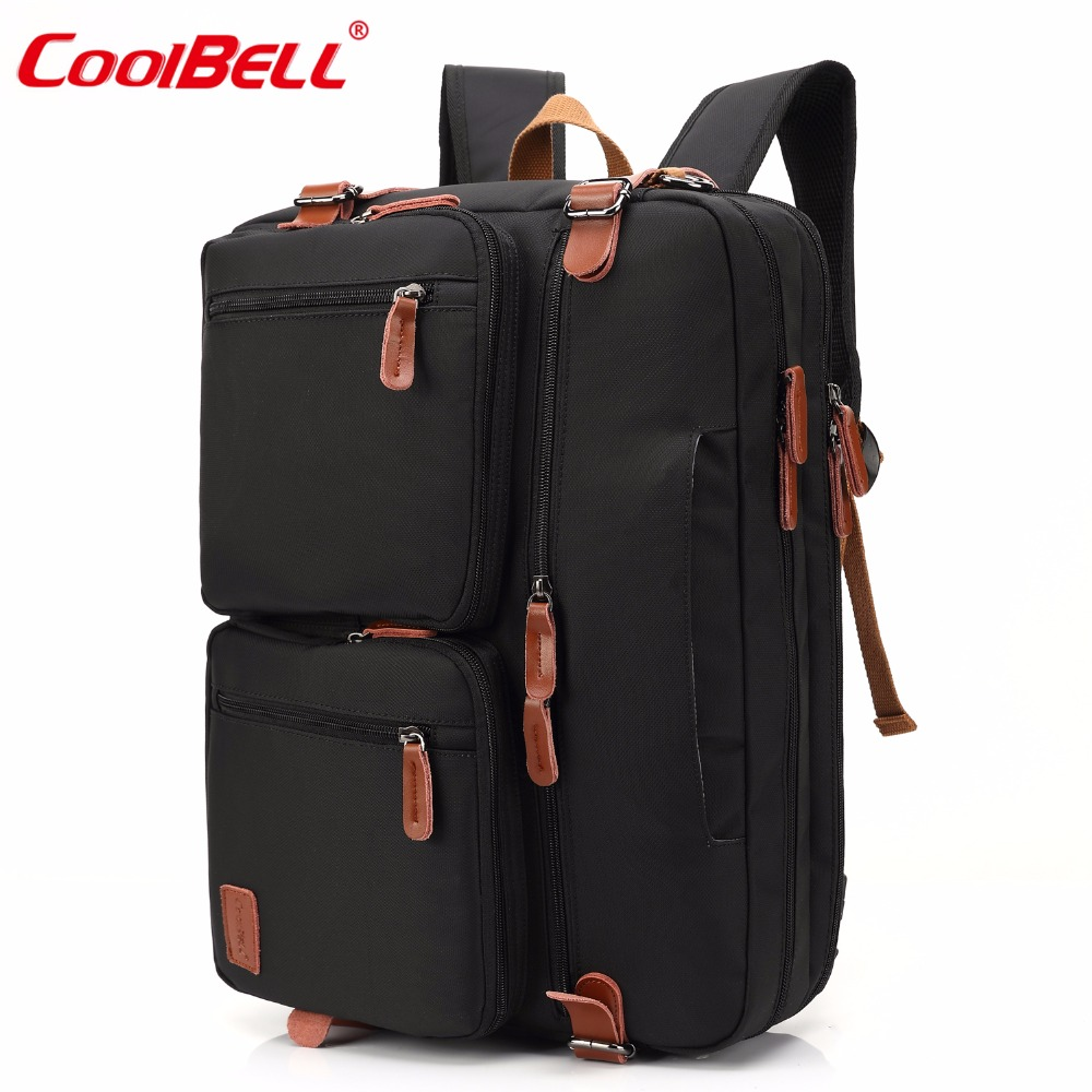 CoolBELL 17.3 Inch Convertible Backpack Laptop Case Shoulder Bag Handbag Business Briefcase Multifunctional Travel Rucksack ...