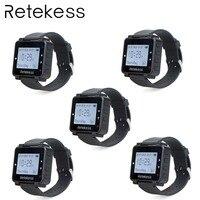 5 шт RETEKESS T128 часы приемник 433,92 МГц для Беспроводной вызова Системы вызова официанта пейджер ресторан оборудования клиента Услуги