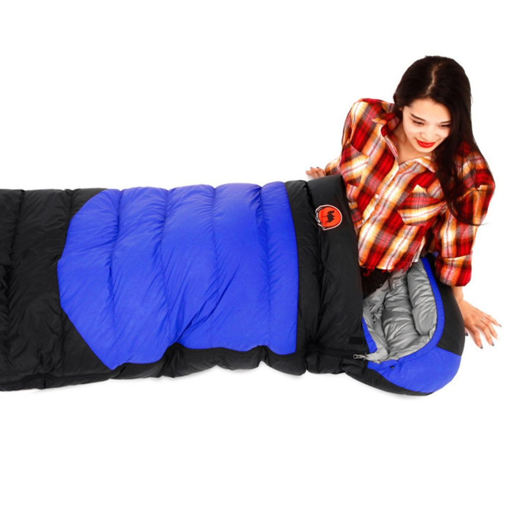 800g/1000g/1200g Duck Down Ultralight camping sleeping bag envelope white duck down sleeping bag goose down sleeping bag g