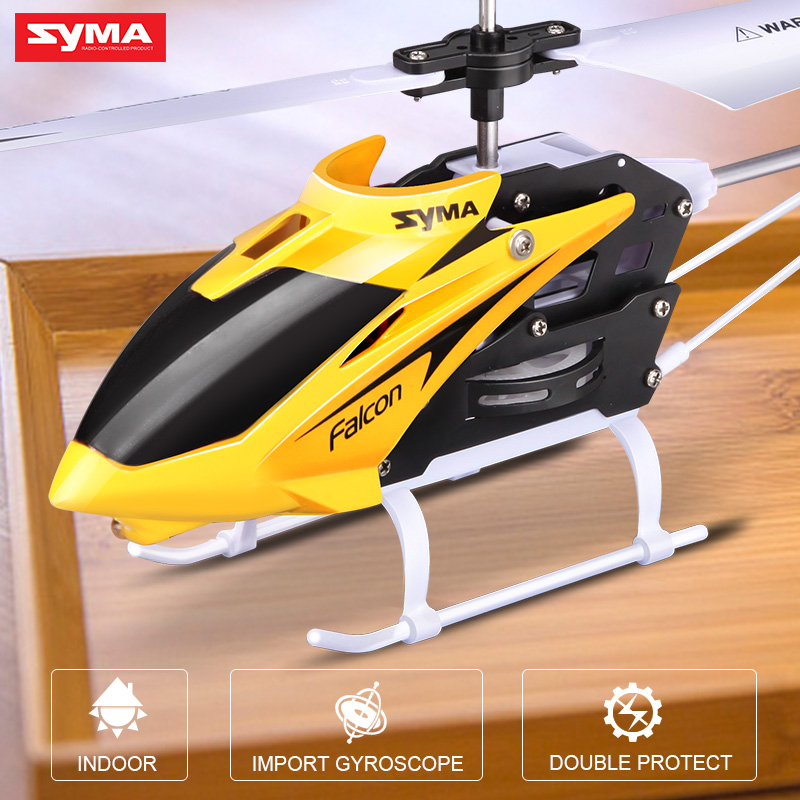 Syma Remote Control Helicopter 2 Channel RC Aircraft Indoor Toy Toys for Children global drone 2ch remote control spaceman helicopter induction aircraft toy helicopter drone indoor children gift toys