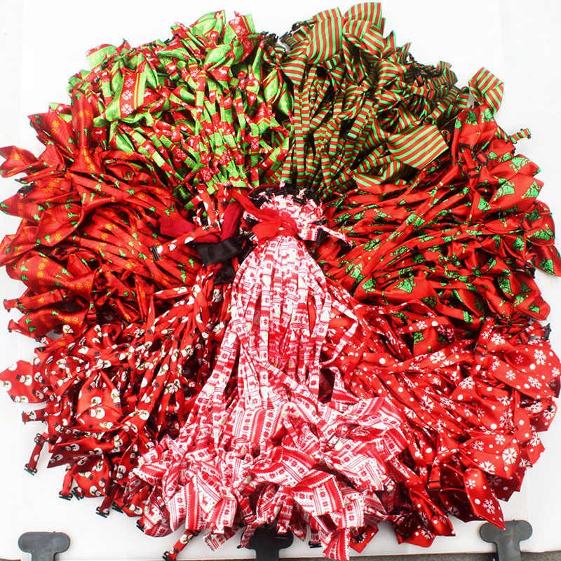 100 pzas/lote corbatas de Navidad para perros, accesorios de corbatas para perros, accesorios de corbatas para vacaciones, productos de aseo con bonito regalo Y9102