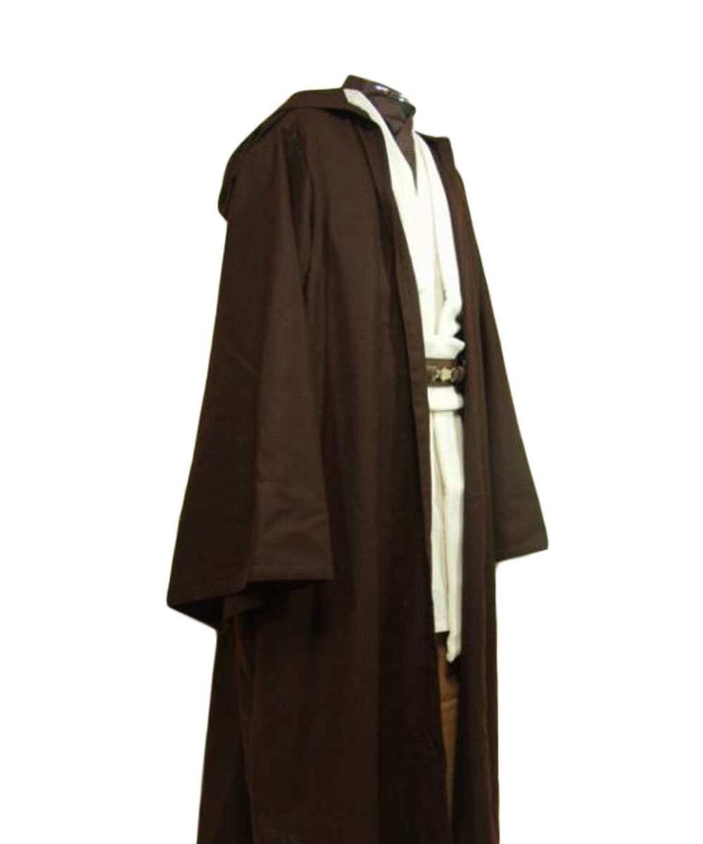 Star Wars Cosplay Obi-Wan Kenobi Costume Adulte Hommes Jedi Tunique Cape Halloween Carnaval Cosplay Costumes XS-XXXL