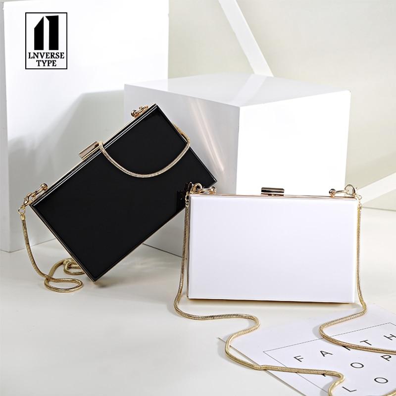 2019 Women Evening Party Bags Fashion Black White Shoulder Cross Body Bag Ladies Day Clutch Dinner Purse Girls Wedding Bride Bag