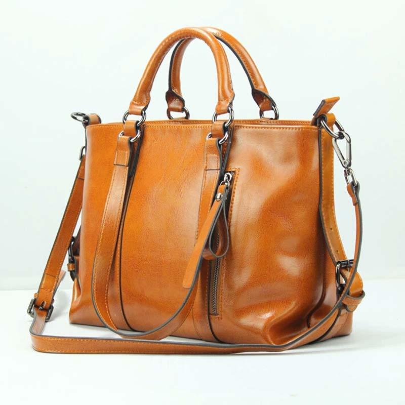 2017 Ladies Handbags Genuine Leather Bags For Women Designer Bags Famous Brand Women Shoulder Bag With Big Capacity Thread Bags