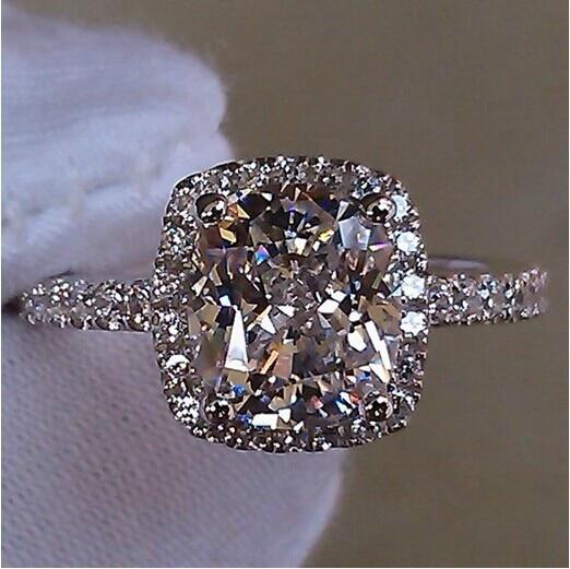 Choucong Dazzling Lady S White Diamonique 925 Silver Wedding Band Ring Sz 5 10 Free Shipping