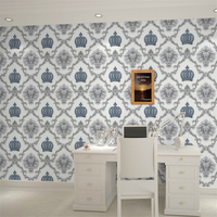 beibehang Luxury European Crown wallpaper hotel clothing shop restaurant beauty salon tea shop clubhouse simple wallpaper