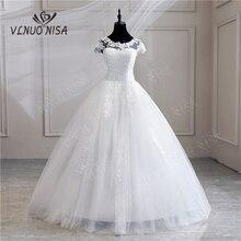 חלוק דה Mariee גרנדה Taille חדש חתונה שמלת תחרה אפליקציות פנינים מתוקה כדור שמלת נסיכה בתוספת גודל בציר כלות 25