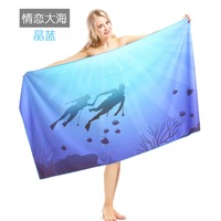 Brand Print Beach towel Microfiber Travel Fabric Quick Drying outdoors Sports Swimming Camping Bath Blanket Gym