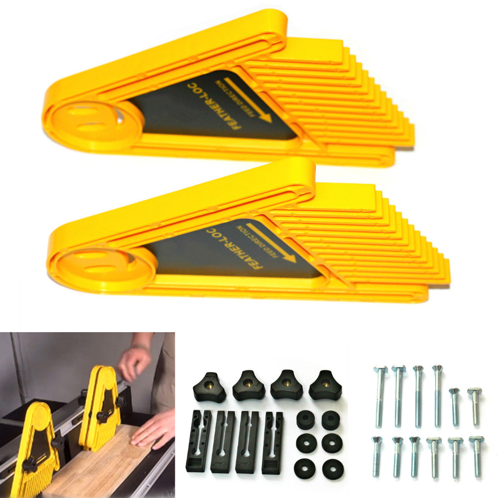 One Pair Of Multi-purpose Feather Loc Boards For Router Tables Table Saws And Fences  Miter Gauge Slot Woodwork DIY