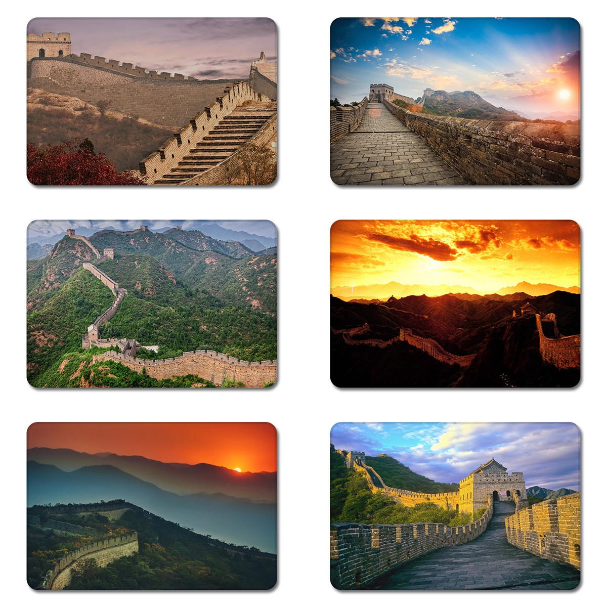 The Great Wall Of China Sunshine Sunset Cool Designs Nature Rubber Table Mouse Pad Laptop Computer Enclosure Mousepad Mat