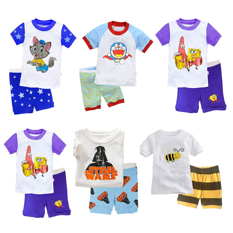 FANCYINN Baby Boys Cartoon Pajamas Suits Clothes Sets Childrens Day Costumes Kids Casual Sleepwears Pjs Boy Clothing 2 3 4 5 6