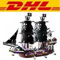 LEPIN 1535 Unids Piratas Del Caribe En General Negro Nave Kits de Edificio Modelo Mini Bloques Ladrillos Compatible Regalo 1313