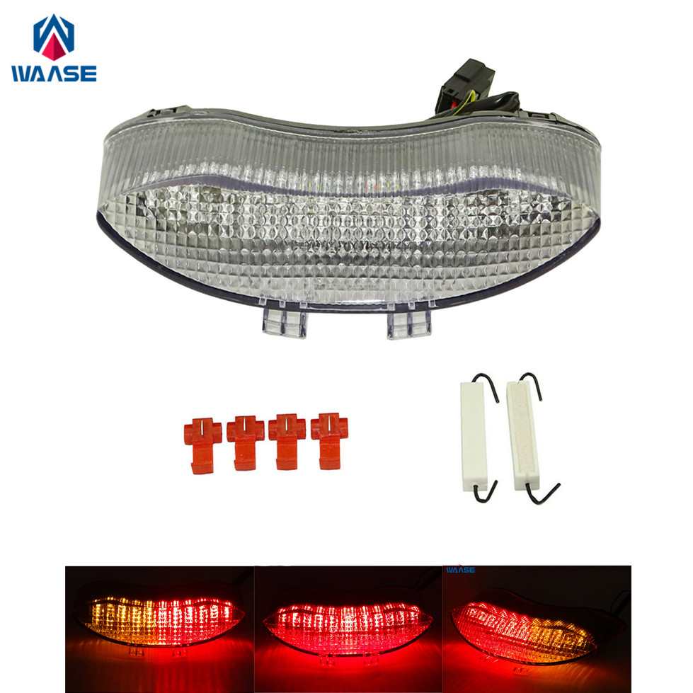 waase Rear Taillight Tail Brake Turn Signals Integrated Led Light Clear For 2008 2009 2010-2012 TRIUMPH Speed Street Triple R