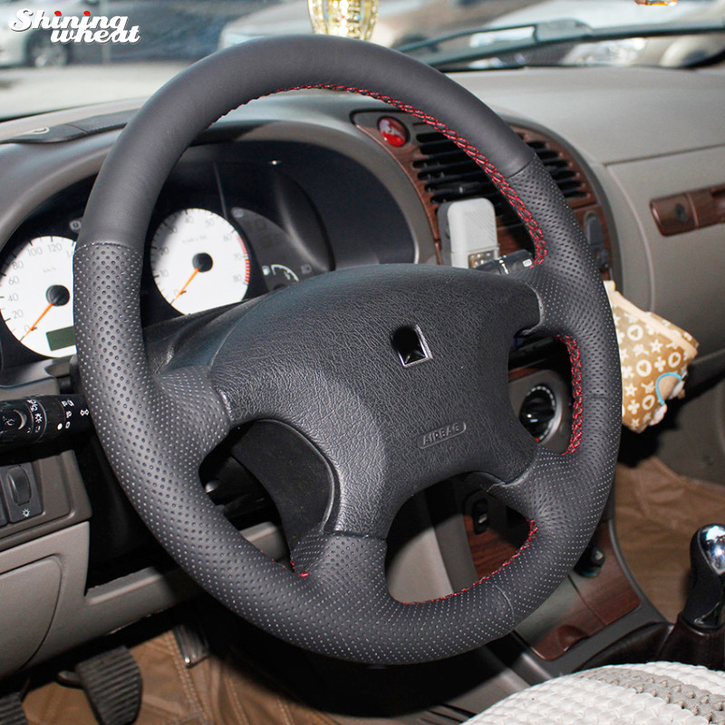 Shining wheat Hand-stitched Black Leather Steering Wheel Cover for Citroen Elysee c-elysee Citroen Xsara Picasso стоимость