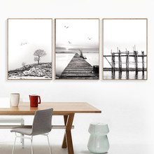 Nordic Style Landscape Canvas Posters and Prints Wall Art Painting Scandinavian Decoration Pictures Modern Home Decor HD2564(China)